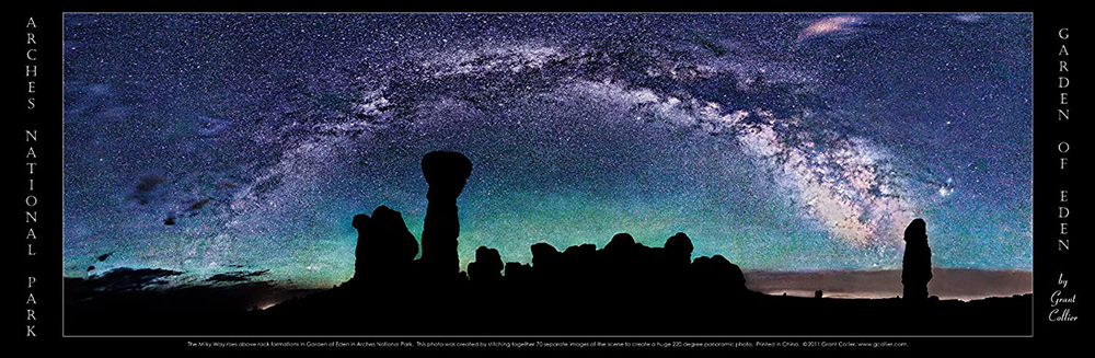 Milky Way, Night, Arches National Park, Utah Poster