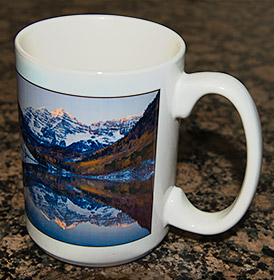 Souvenir Colorado coffee mug.
