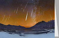 Rocky Mountain National Park, meteor shower, greeting card